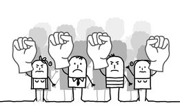 People protesting stock illustration