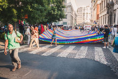 People protesting against Gaza strip bombing in Milan, Italy Royalty Free Stock Photography