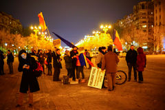 People protesting, Bucharest, Romania Stock Images
