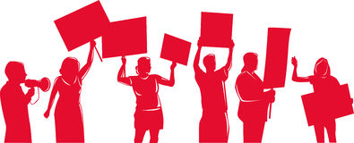 People protesting development Royalty Free Stock Image