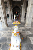 People prying on the temple of Maheshwar palace Stock Image