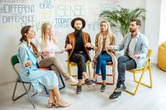 People during the psychological therapy indoors royalty free stock photography