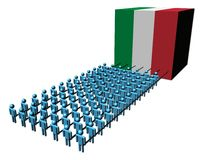 People pulling Italian flag cube Stock Photos