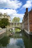 People punting on the Cam River, Cambridge, UK Stock Photo