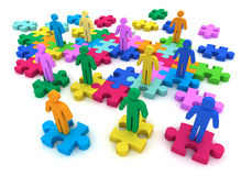 People puzzle   3d illustration Royalty Free Stock Images