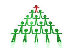 People pyramid - Team support. Ready to use for designers and publishers Stock Photos