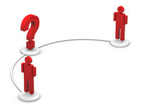 People and question mark Royalty Free Stock Photo