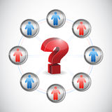 People question mark diagram concept illustration Stock Images