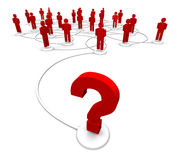 People and question marks Stock Image