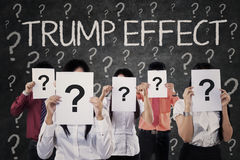 People with question marks and Trump Effect Royalty Free Stock Photography
