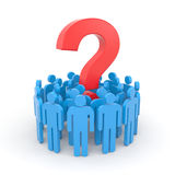 People with question. Teamwork metaphor Stock Photos