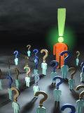 Questions and answers Stock Images