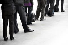 People in queue royalty free stock photos