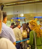 People queue  airport passport control royalty free stock photos