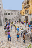 People queue up to visit the castle Royalty Free Stock Image