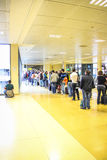People queueing, Girona Airport Royalty Free Stock Image