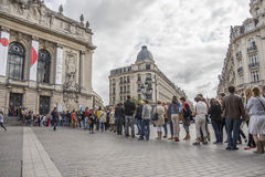 People Queuing Royalty Free Stock Photos
