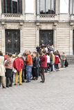 People Queuing Stock Photography
