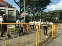 People queuing up to pay last respect to ex prime minister of Singapore Me Lee Kuan Yew Stock Image