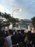 People queuing up to pay last respect to ex prime minister of Singapore Me Lee Kuan Yew Royalty Free Stock Photography