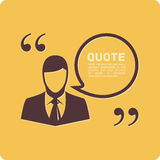 People with quote. Man cites vector illustration. Quote blank template. Quote bubble. Empty template Stock Photos