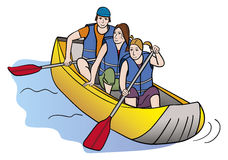 People in the raft Stock Image