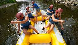 People rafting Stock Image