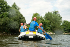 People rafting Stock Photography