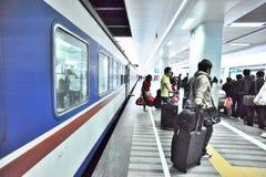 people at railway platform Royalty Free Stock Images