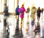People in rain Stock Photos