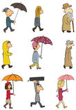 People - Rainy Day Royalty Free Stock Image
