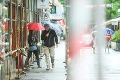 People on rainy day Royalty Free Stock Photo
