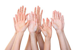People raise hands Royalty Free Stock Photography