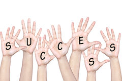 People raising hands to celebrate success Royalty Free Stock Photo