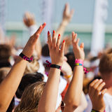 People raising their hands Stock Images