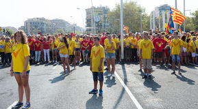 People at rally demanding independence for Catalonia Royalty Free Stock Images