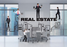 People and real estate Stock Images