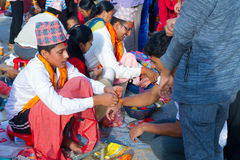 People receiving Rakshya Bandhan from the Brahmin Priests on Jan. Hindus in Nepal and elsewhere were celebrated Janai Purnima on Friday. On this day, men from stock photos