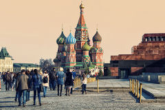 People at Red Square in Moscow Royalty Free Stock Photos