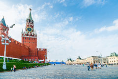 People on Red Square Royalty Free Stock Photos