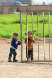 People in refugee camp Royalty Free Stock Images