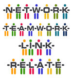 People Relation Logo. Concept: network, teamwork, link, relate Stock Photos