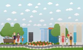 People and relations concept vector flat illustration Royalty Free Stock Photography