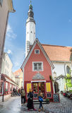 People relax on the celebration of the Days of the Old Town On May 31, 2015 In Tallinn Royalty Free Stock Photos