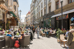 People Relax In Downtown Bucharest City Stock Photography