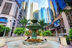Grand Millennium Plaza Garden Fountain Stock Photography