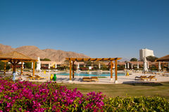 People relax in the hotel, Taba, Egypt Royalty Free Stock Photography