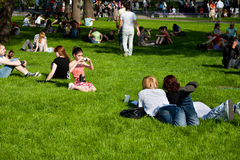 People Relax In The Park Royalty Free Stock Photos