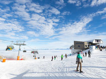 People relax in the ski resort Stock Photography