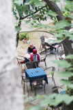 People relax in the tea garden Royalty Free Stock Photos